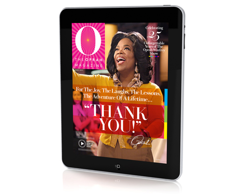 DF•CREATIVE and 'O,The Oprah Magazine' Celebrate 25 Years of Oprah's Show With a Special Motion Cover