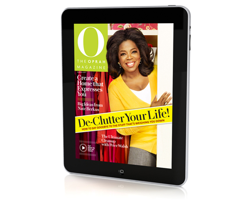 'O, The Oprah Magazine' De-Clutters the March 2011 Issue With a Word Jumble From DF•C